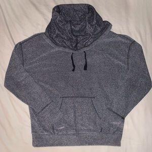 Kensie Performance Gray Cowl-Neck Sweatshirt